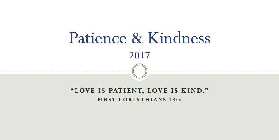Bering Drive Patience and Kindness